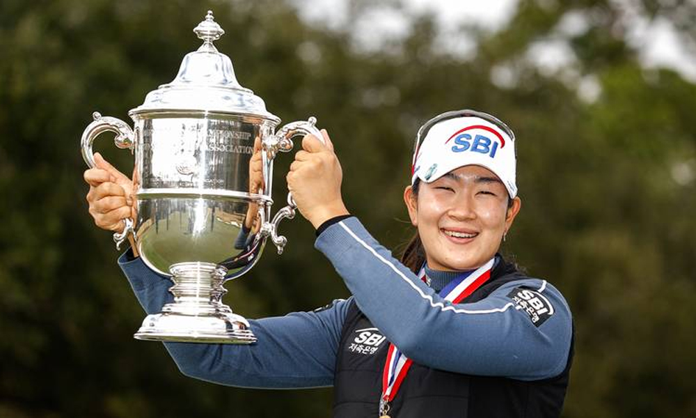 Kim A Lim is the 10th South Korean golfer to win the US Womens Open.  Photo: USGA