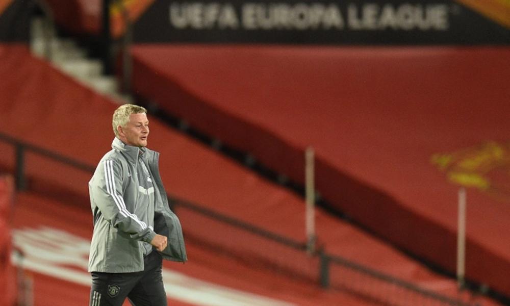Solskjaer cùng Man Utd vào tới bán kết Europa League mùa 2019-2020. Ảnh: AFP