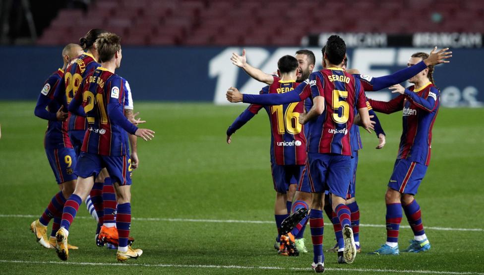 Barca ngắt mạch 10 trận bất bại của Sociedad. Ảnh: Blaugranes.
