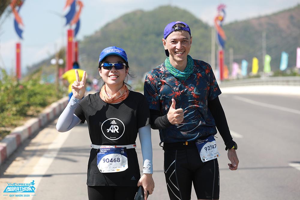 Athletes who conquered the runway at VnExpress Marathon Quy Nhon 202. Photo: VnExpress Marathon.