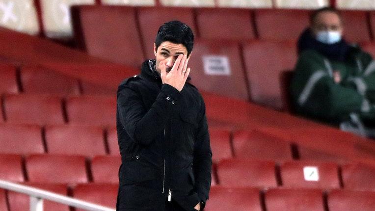Arteta mới chỉ giành ba chiến thắng trong 14 trận đầu Ngoại hạng Anh mùa này. Ảnh: Reuters.