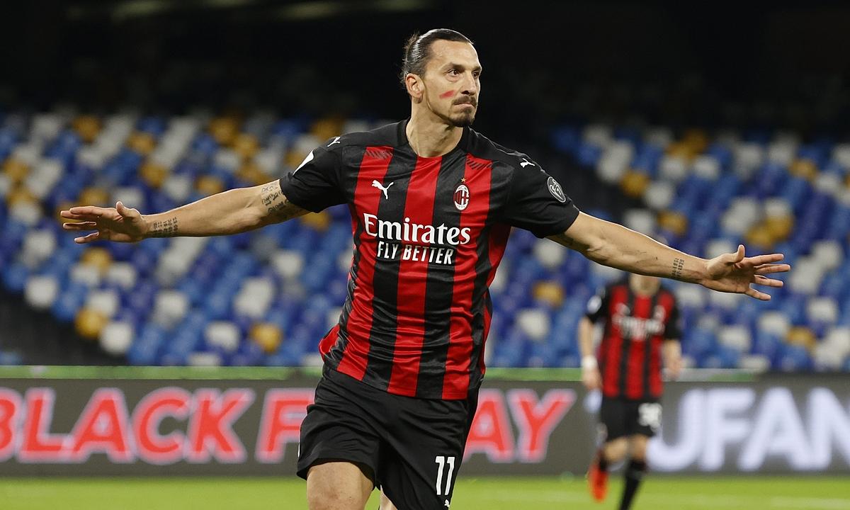 Ibrahimovic vắng chín trận gần nhất, nhưng Milan vẫn bất bại. Ảnh: Reuters