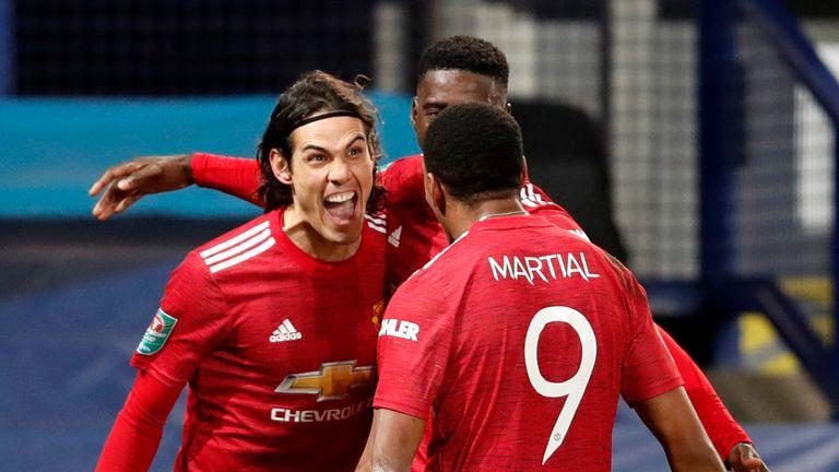 Man Utd vừa có trận thắng thứ 13 liên tiếp trên sân các đội bóng ở giải Ngoại hạng Anh. Ảnh: Sky.