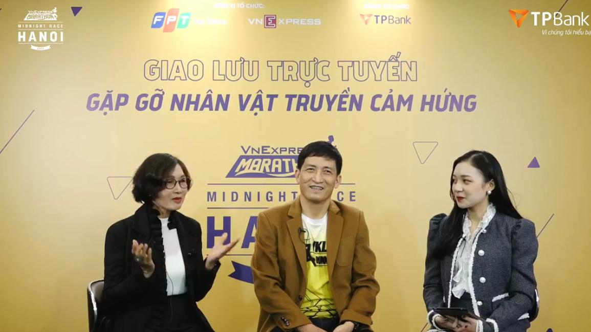 Ms. Nguyen Thi Thanh Binh, Mr. Hoang Hai Nam shared the secret and impressive running tips about the VnExpress Marathon Hanoi Midnight.