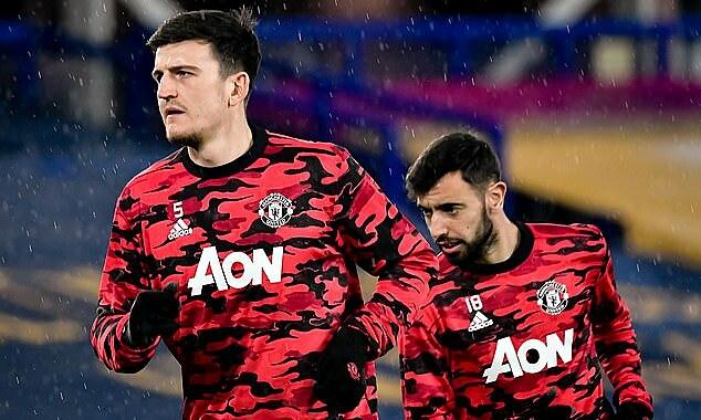 แม็กไกวร์ (ซ้าย) และเฟอร์นานเดสติด 1 ใน 5 นักฟุตบอลอาชีพในปี 2020 รูปภาพ: MUFC