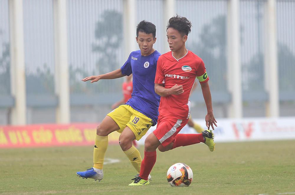 กัปตันเหงียนฮัวตวนทำดับเบิ้ลช่วยเวียดเทลเอาชนะฮานอย 3-1 ในรอบรองชนะเลิศ U15 National Cup