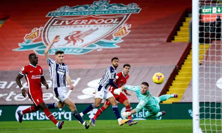 Liverpool bỏ lỡ cơ hội nới rộng khoảng cách với nhóm phía sau. Ảnh: PA.