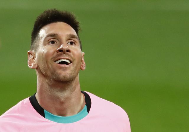 Messi kết thúc năm 2020 với bàn thứ 644 cho Barca, phá kỷ lục lập công nhiều nhất cho một CLB của Pele. Ảnh: Reuters.