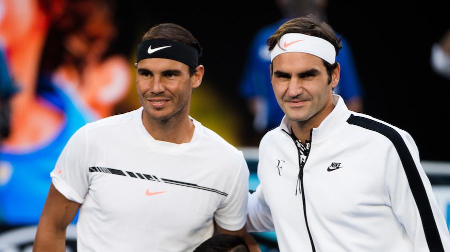 Nadal và Federer đã chơi tổng cộng 2721 trận. Ảnh: ATP.