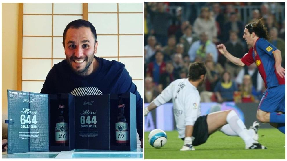 การ์เซียและของขวัญมาจากความพ่ายแพ้ต่อเมสซี่  ภาพ: Facebook, Marca
