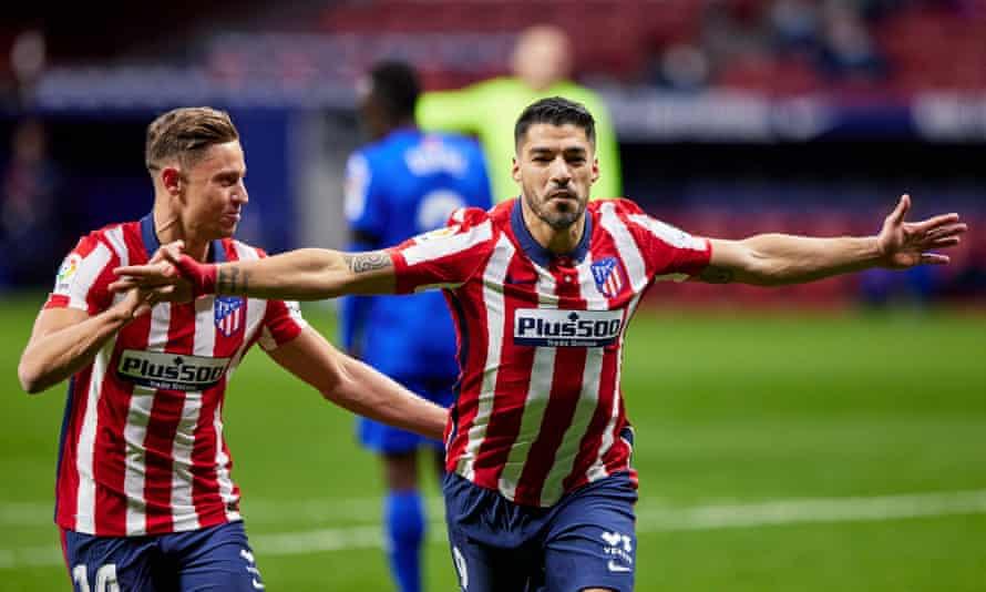 Delapan gol Suarez mengubah Atletico menjadi kandidat yang baik untuk juara.  Foto: Rex.