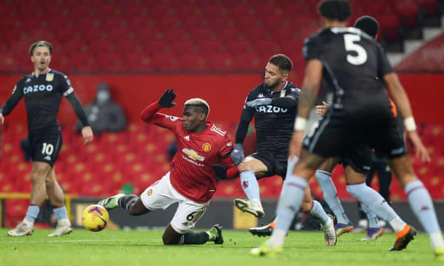 Pogba membawa Man Utd penalti ke-27 di bawah kepemimpinan Ole Solskjaer.  Foto: Sasaran.