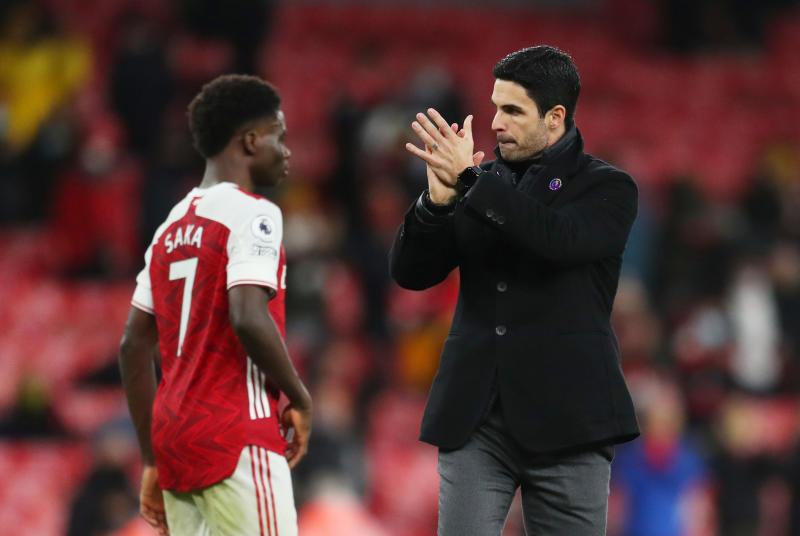 Arsenal lần đầu ghi bốn bàn trên sân khách sau hai năm. Ảnh: Reuters.