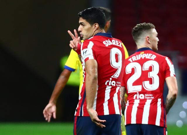 Suarez mencetak delapan gol dan membawa Atletico memimpin setelah 14 pertandingan La Liga 2020-2021.  Foto: Reuters.