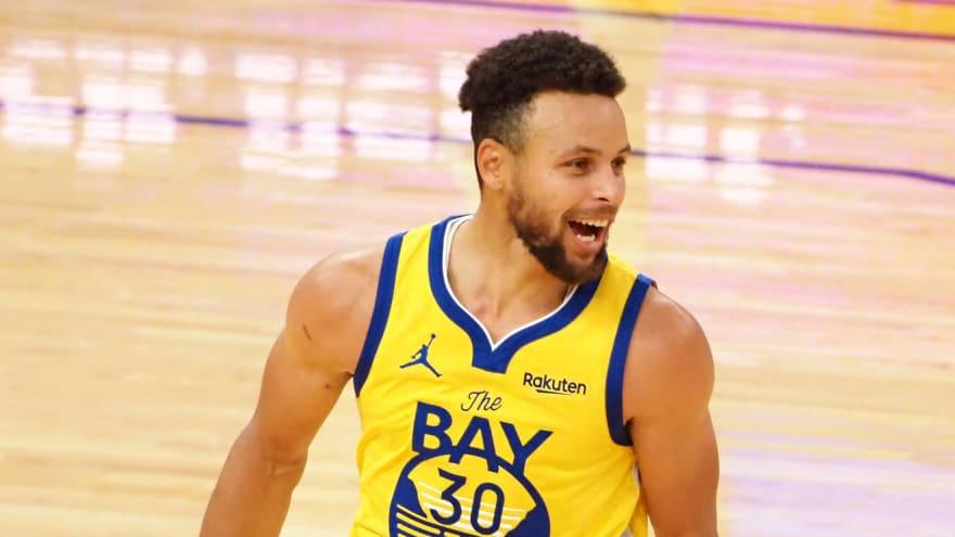 Curry sedang memainkan musim ke-12 untuk Golden State Warriors, dengan rata-rata 23,5 poin per game.  Foto: ESPN.