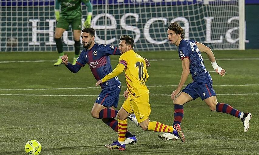 Messi kembali dan langsung memberi energi kepada Barca.  Foto: AP