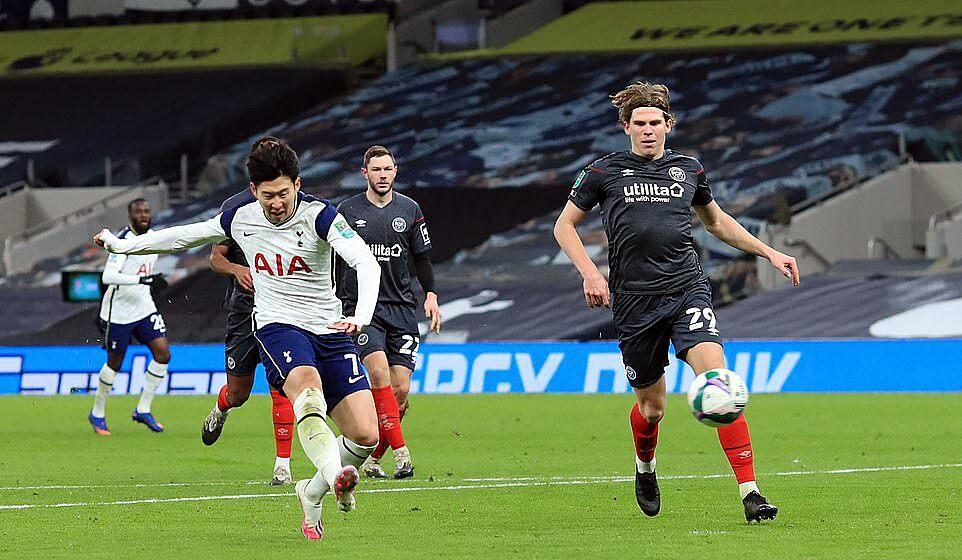 Son Heung-min memiliki gol ke-16 di semua kompetisi musim ini.  Foto: PA.