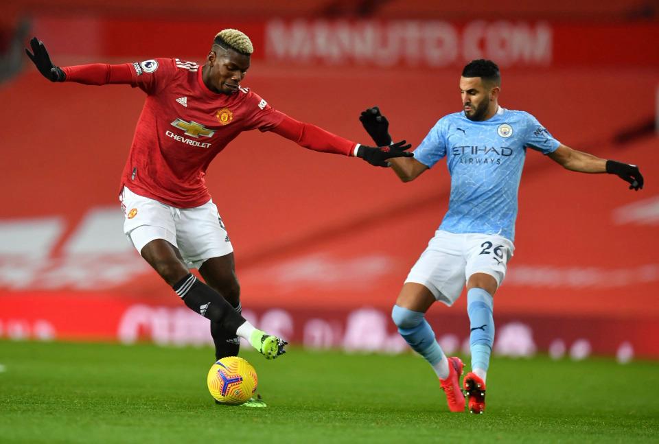 Ở lần chạm trán gần nhất, tại Ngoại hạng Anh hôm 12/12, Man Utd bị Man City cầm hòa 0-0 tại Old Trafford. Ảnh: AP