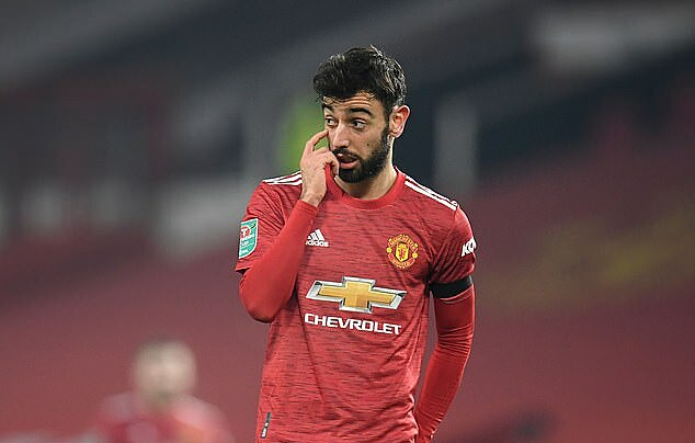 Fernandes memiliki 4 tembakan, umpan penentu dalam pertandingan melawan Man City pada malam 6 Januari.  Foto: AFP.