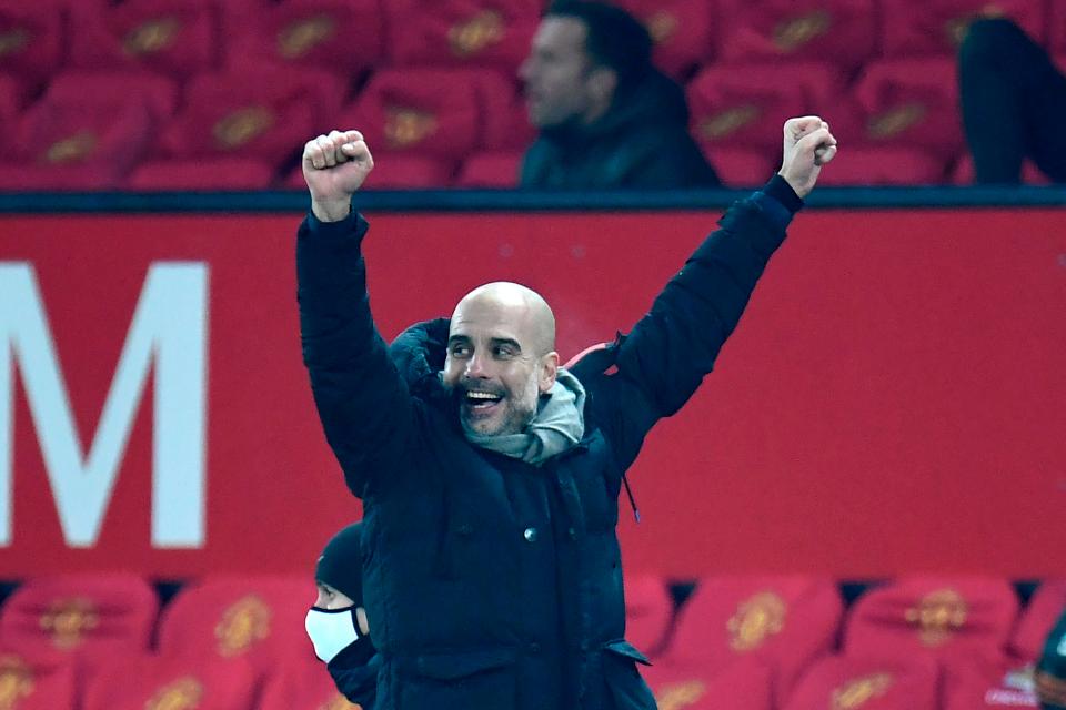 Guardiola đang tiến tới Cup Liên đoàn thứ tư liên tiếp trong năm mùa dẫn dắt Man City. Ảnh: Reuters.