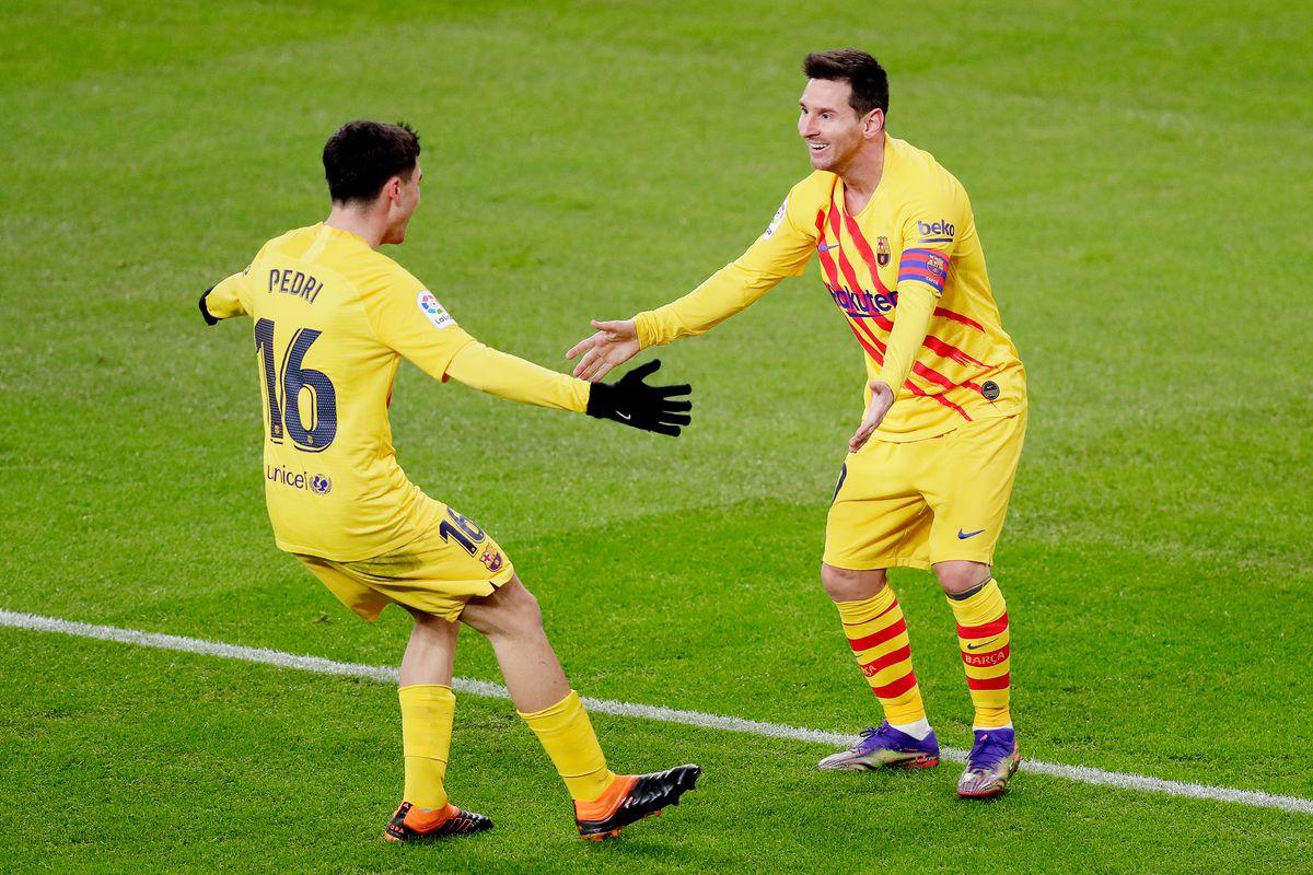 Pedri và Messi trở thành cặp đôi ăn ý trên hàng công Barca.