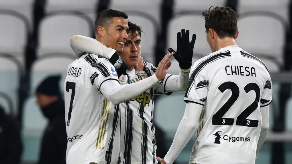 Trio Ronaldo, Dybala dan Chiesa total mencetak 26 gol untuk Juventus sejak awal musim.  Foto: Sasaran.