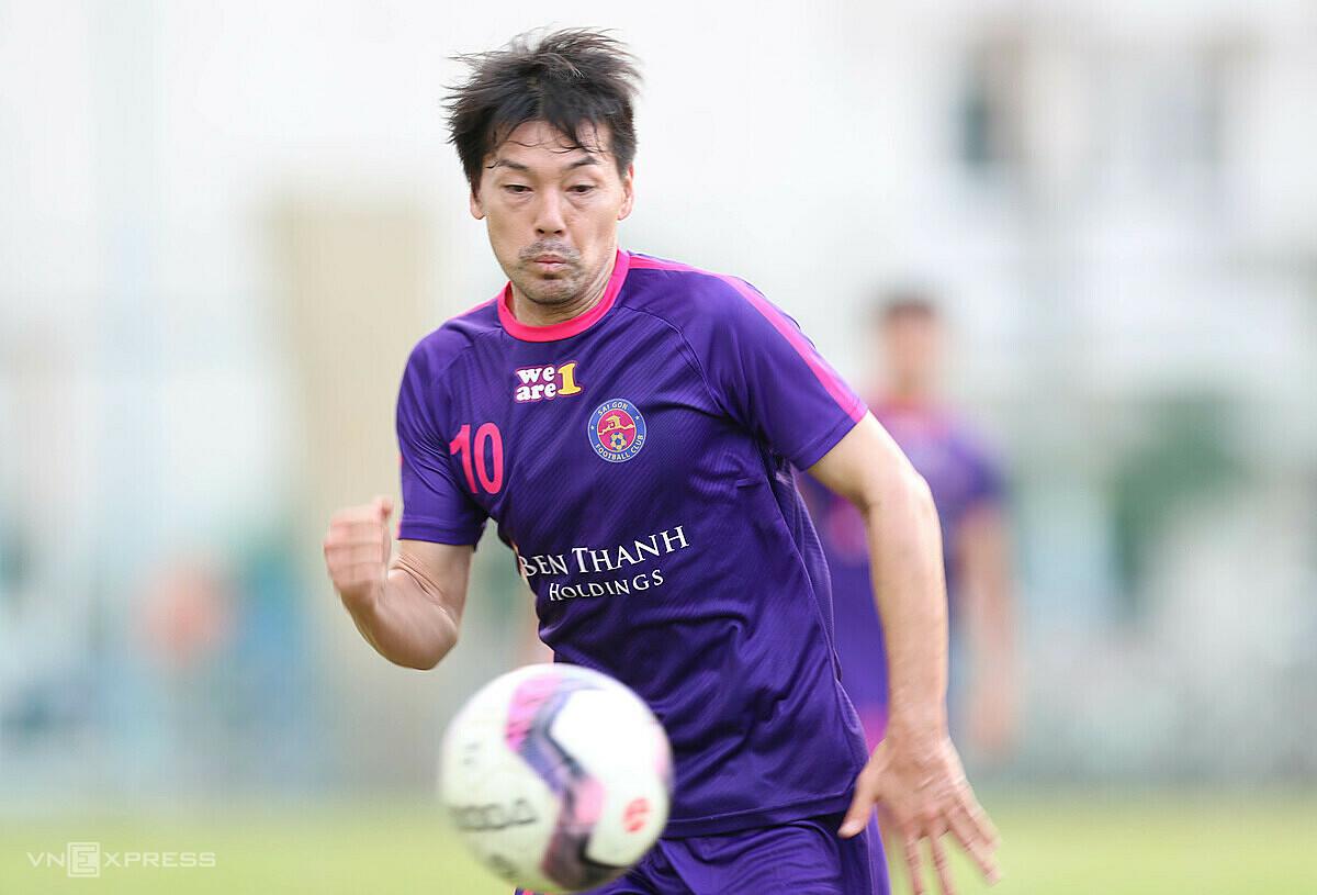 Daisuke Matsui ในการเปิดตัว Saigon FC เมื่อวานนี้ที่ Dat Duc Stadium, Go Vap, Ho Chi Minh City  ภาพ: Duc Dong