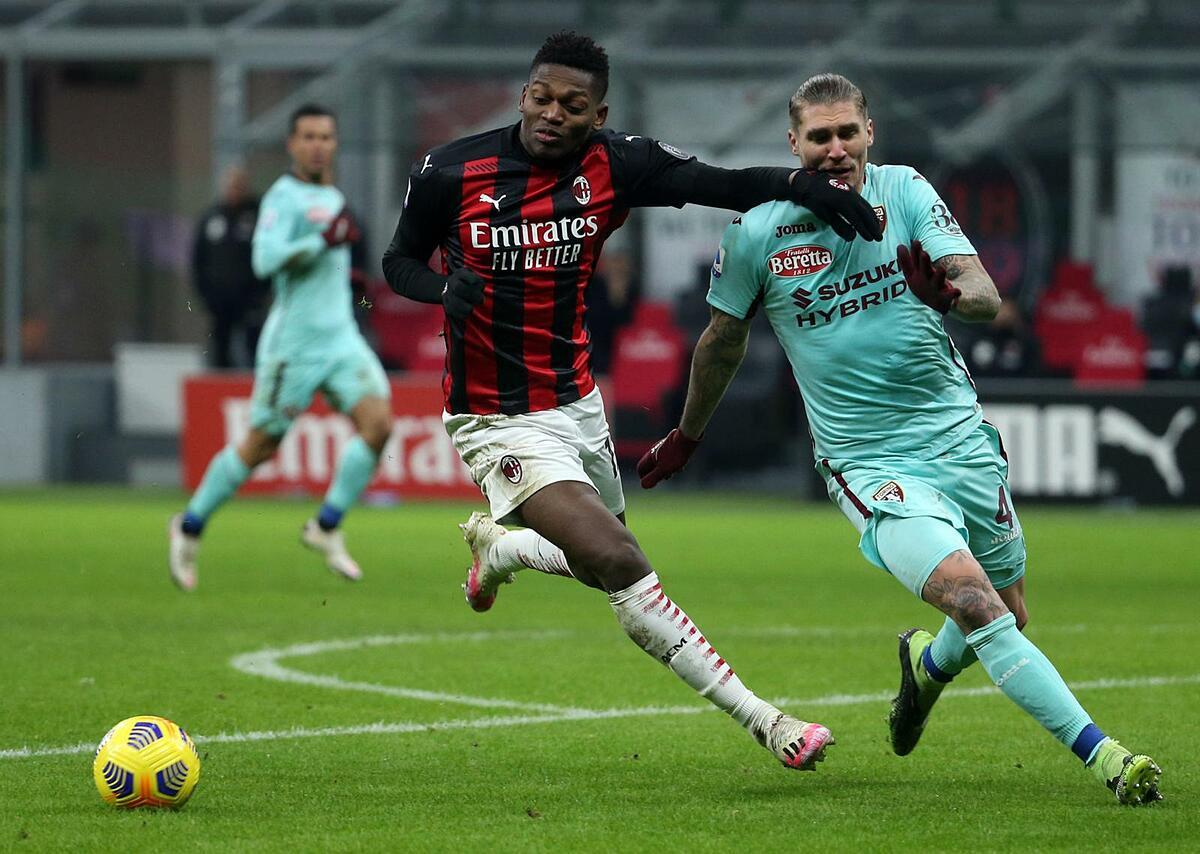 Leao mencetak gol dan terbukti layak menjadi pengganti senior Ibrahimovic di ujung tombak Milan.  Foto: ANSA