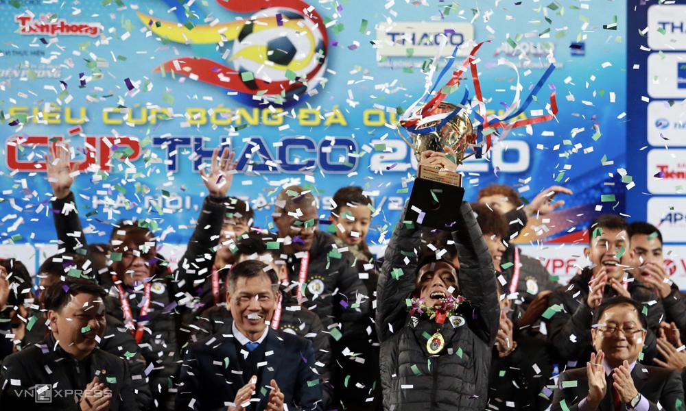 ไม่มีสัญญาณเชิงบวกมากมายเกี่ยวกับคุณภาพของผู้เล่นที่เห็นได้จากชัยชนะของฮานอยในซูเปอร์คัพ  ภาพ: ลำท่อ