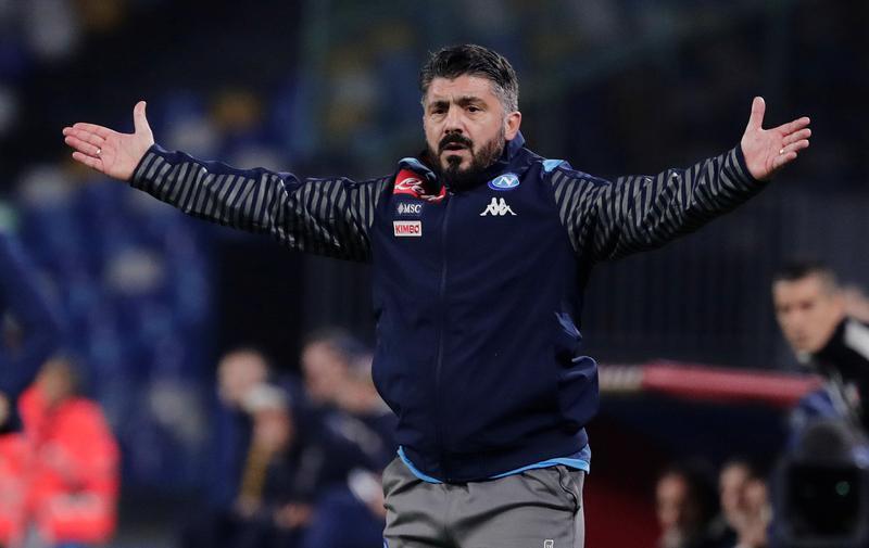 Gattuso telah memimpin Napoli sejak akhir 2019, menggantikan Carlo Ancelotti.  Sebelumnya, dia sempat dua tahun menjadi pelatih Milan.  Foto: Reuters.