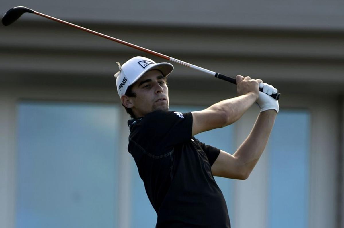 Nieman memulai hole pertama di Sentry Tournament of Champions di Plantation, Hawaii pada 10 Januari.  Foto: AP