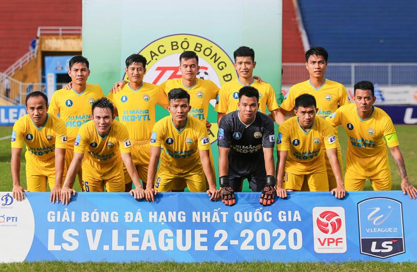 สโมสรฟุตบอล Tay Ninh เล่นดิวิชั่นหนึ่งปี 2020 รูปภาพ: VFP