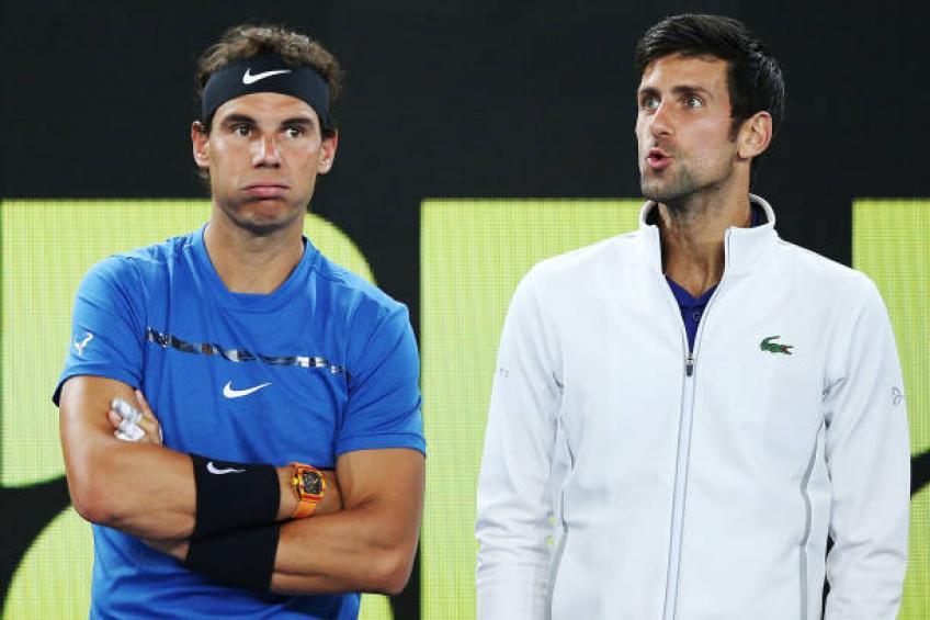 Nadal baru sekali menjuarai Australia Terbuka, sedangkan Djokovic mengoleksi delapan gelar.  Foto: AS.