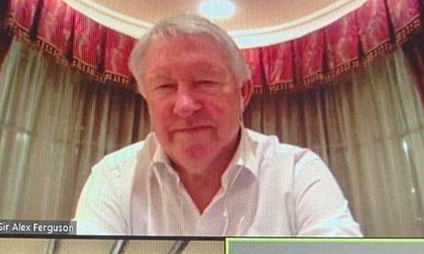 Ferguson berbicara online selama program A Team Talk With Legends pada 15 Januari.  Foto: PremierLeague