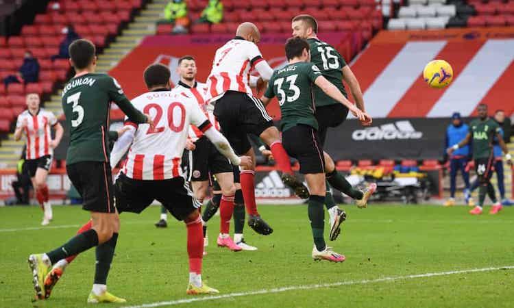 Bàn thắng của McGoldrick chỉ thắp lên hy vọng giành điểm cho Sheffield trong vài phút. Ảnh: Reuters.