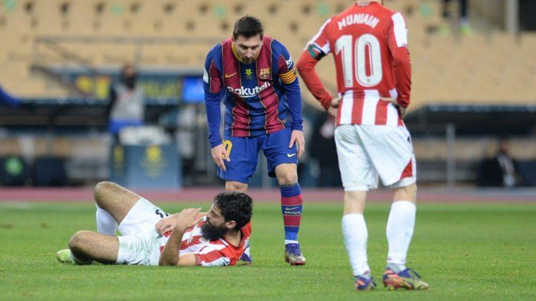 Messi menerima kartu merah pertamanya setelah 753 pertandingan untuk Barca.  Foto: Marca.