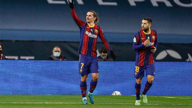 รั้งของ Griezmann ไม่เพียงพอสำหรับ Barca ที่จะชนะ  ภาพ: EFE.