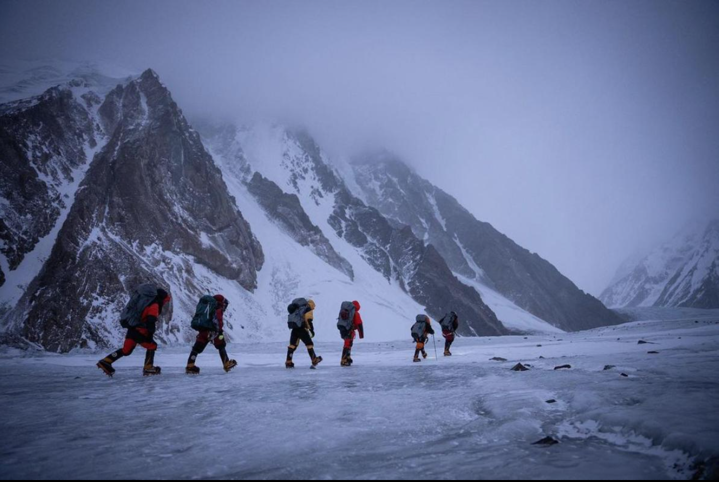 Many people perished when conquering K2 both in winter and summer.  Photo: NatGeo