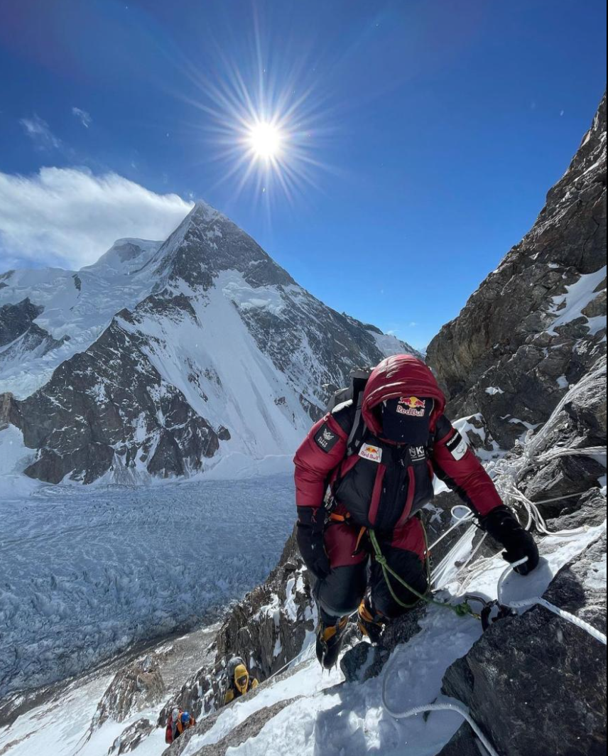 Climbers must conquer steep slopes in the world's harshest weather to reach the top of K2 in winter.  Photo: NatGeo