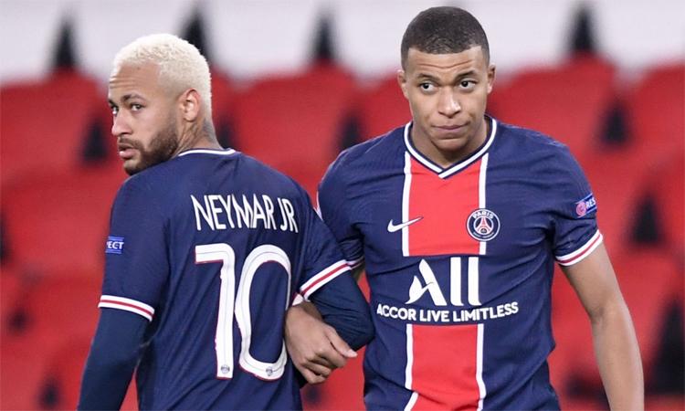 Neymar dan Mbappe hanya memiliki satu setengah tahun kontrak mereka dengan PSG.  Foto: Ligue 1.