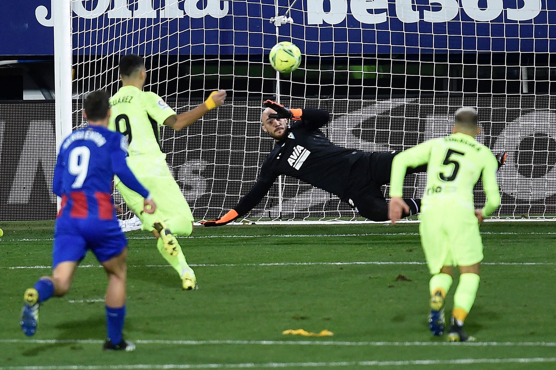 Penalty from Panenka de Suárez at the end of the match.  Photo: AFP