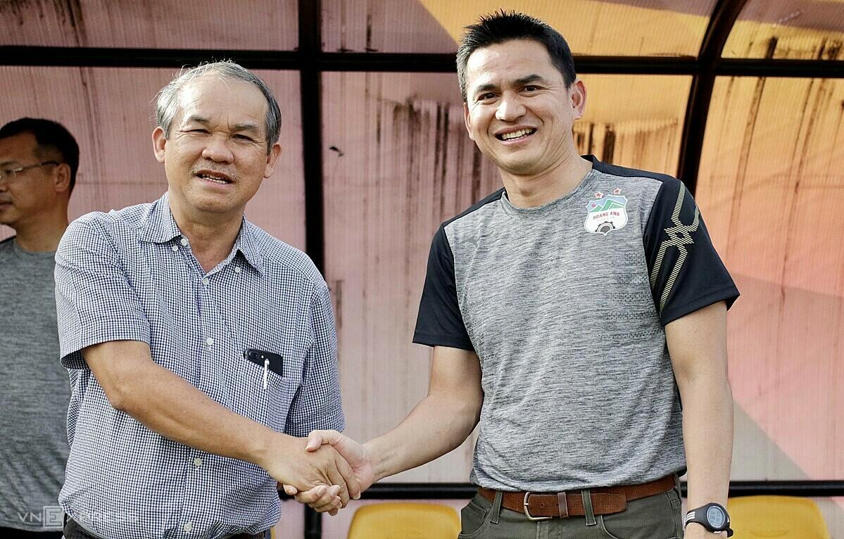 Elect Duc ไม่ได้ตั้งเป้าหมายให้เกียรติศักดิ์ในฤดูกาลแรกกลับมาเป็นผู้นำ HAGL: ภาพ: Duc Dong