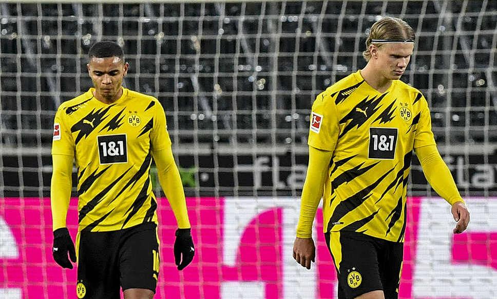 Haaland (kanan) bersinar tapi tidak bisa menyelamatkan Dortmund.  Foto: dpa