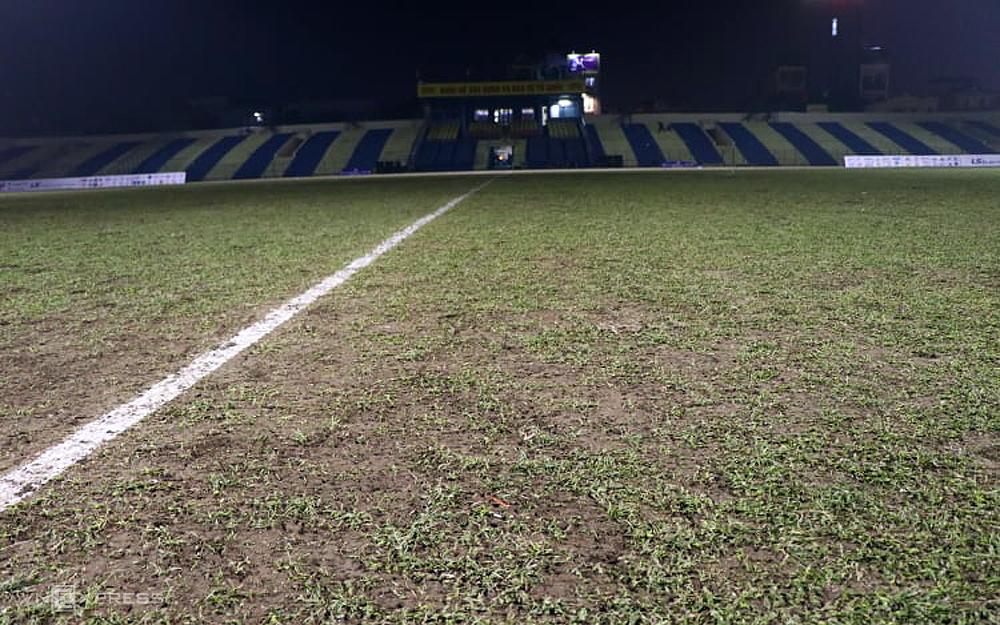 Stadion Thanh Hoa dalam pertandingan untuk menyambut Viettel di putaran kedua V-League 2021. Foto: Dang Ngoc