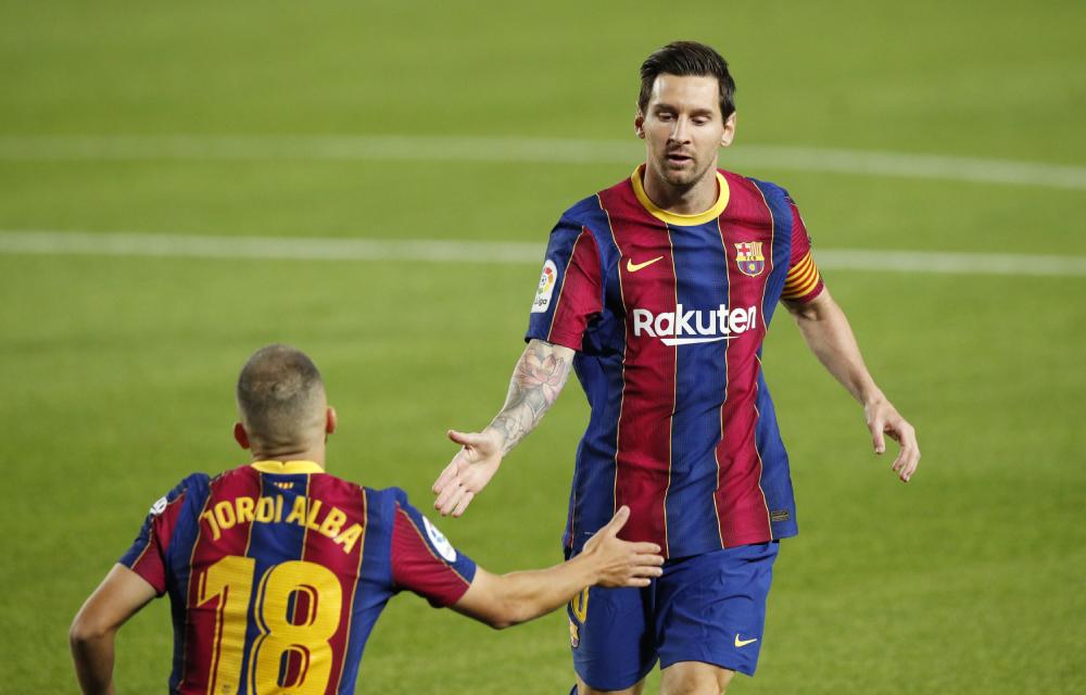 Messi đang tiến đến mốc ghi 650 bàn cho Barca. Ảnh: Reuters.