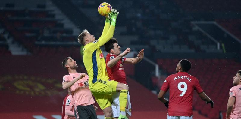 Perselisihan situasi Maguire dengan kiper Sheffield mengakibatkan Martial mencetak gol yang tidak diakui.  Foto: Langit.