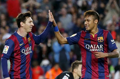 Neymar bermain bersama Messi selama empat tahun, sebelum bergabung dengan PSG pada 2017. Foto: Reuters.