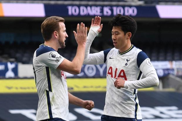 Kane (kiri) bermain sangat baik dengan Son Heung Min di awal musim.  Foto: EPA.