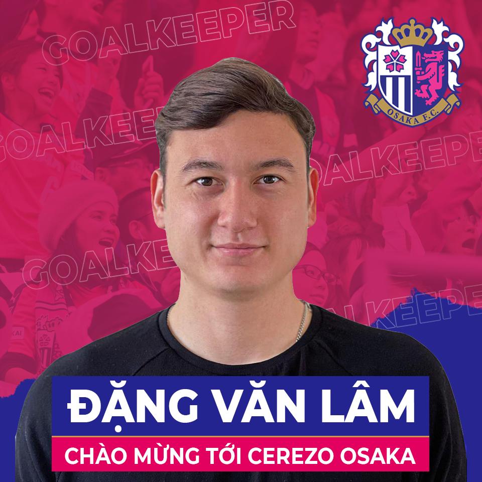 แฟนเพจ Cerezo Osaka โพสต์ภาพประกาศรับสมัคร Dang Van Lam