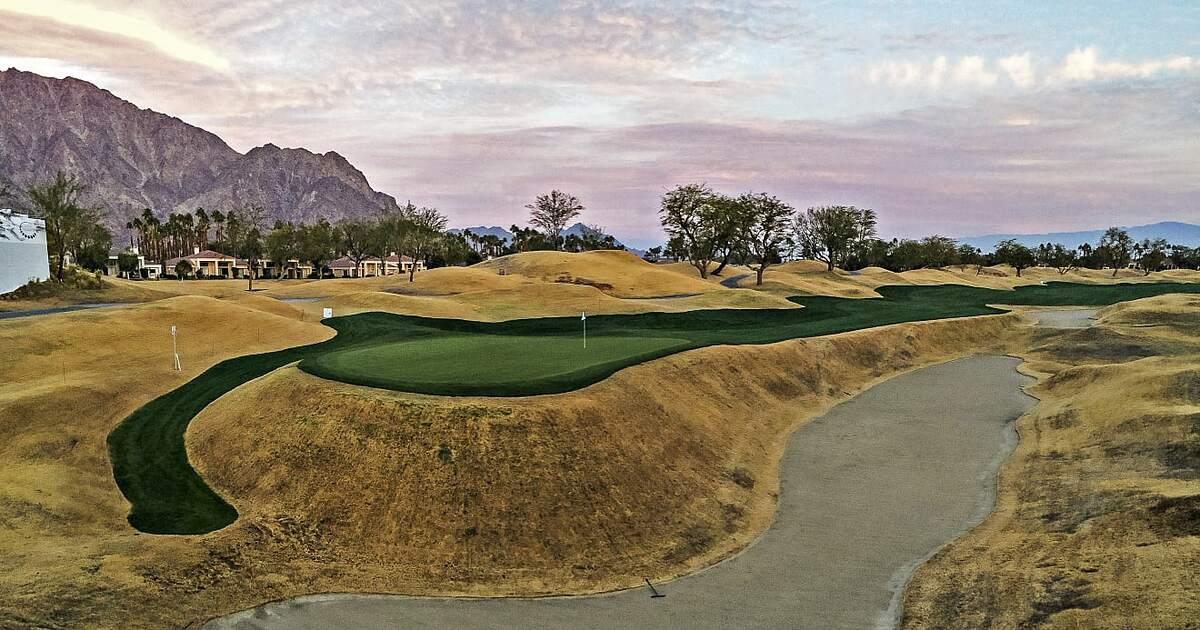 Tinjauan umum perangkap pasir Sesar San Andreas.  Foto: PGA Tour